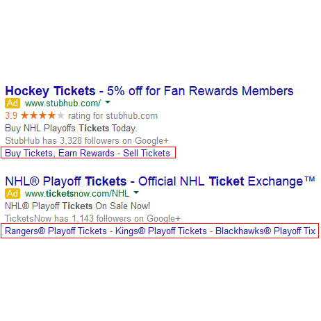 New Dynamic Sitelinks Coming to Google AdWords