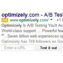 AdWords Testing New Submit URL Form Extension