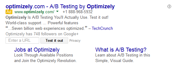 test url adwords