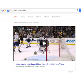 More Large Embedded Videos in Google Search Results