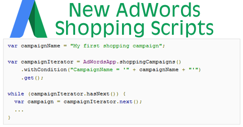adwords shopping scripts header