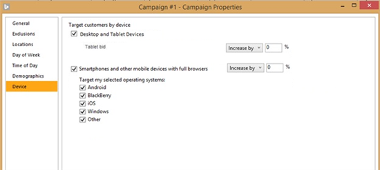 Tablet Device Targeting Changes in Bing Ads