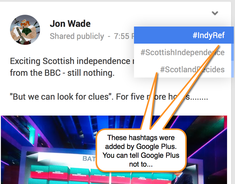 Auto-hashtagging