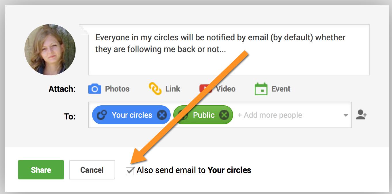 Google Plus notify