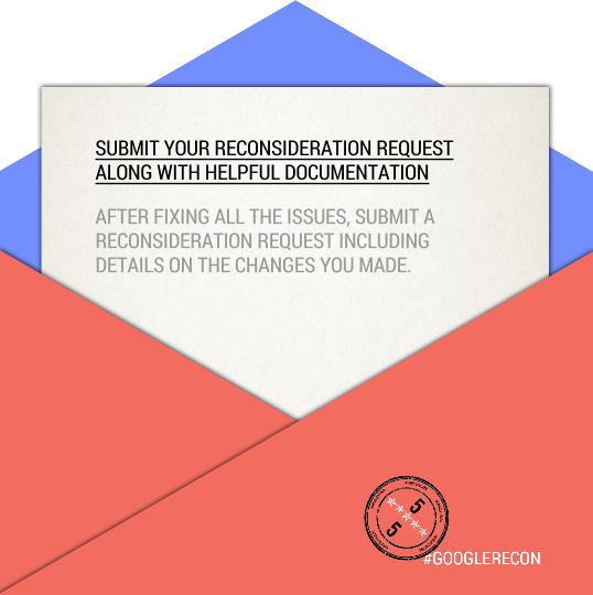 Google Reconsideration Tips: Submit Helpful Documentation