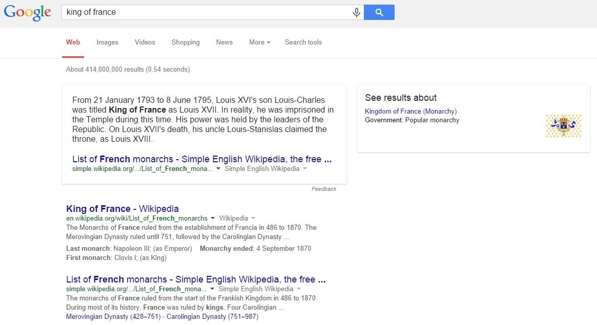 Google Showing Inline Knowledge Graph Snippets in Search Results
