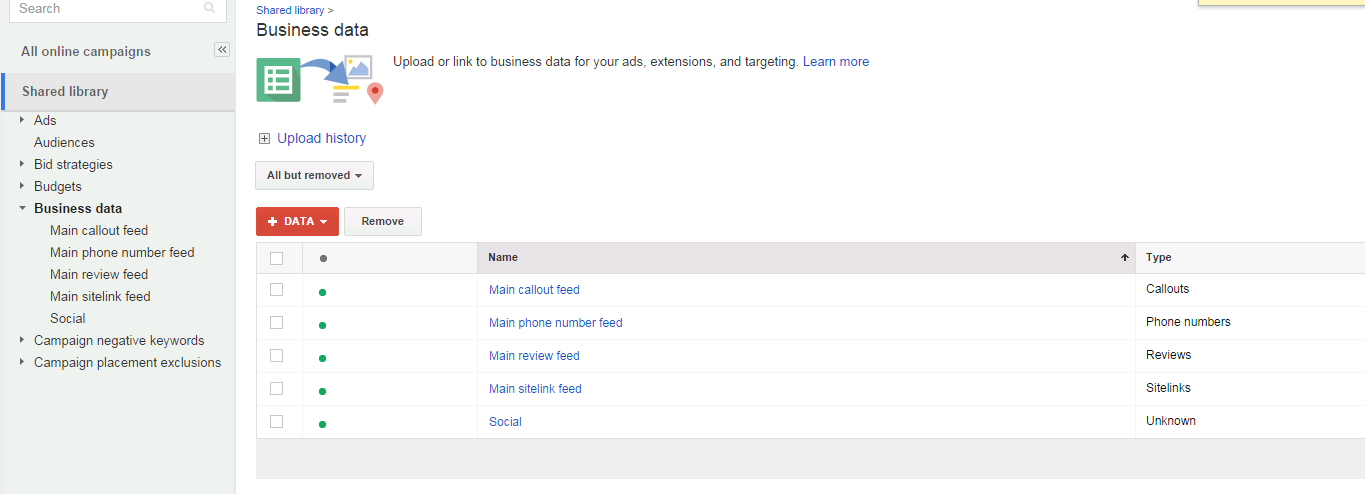 Shared Business Data: Data Feeds Come to Adwords Ads