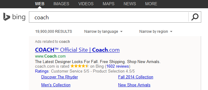 Bing Ads Testing Expanded Consumer Ratings Annotations