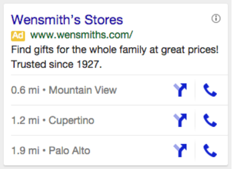 Google AdWords Adds Multiple Business Location Support on Ads