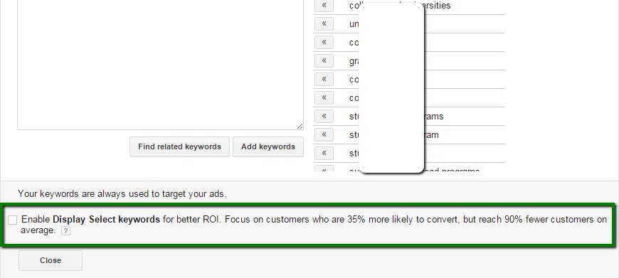 Display Select GDN Keyword Targeting Spotted in Google AdWords Accounts