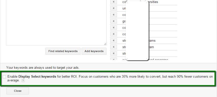 display_select_keywords