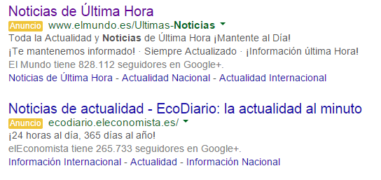 Spanish News Publishers Using Google AdWords to Get Back Lost Google News Traffic