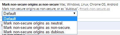 chrome canary unsecure