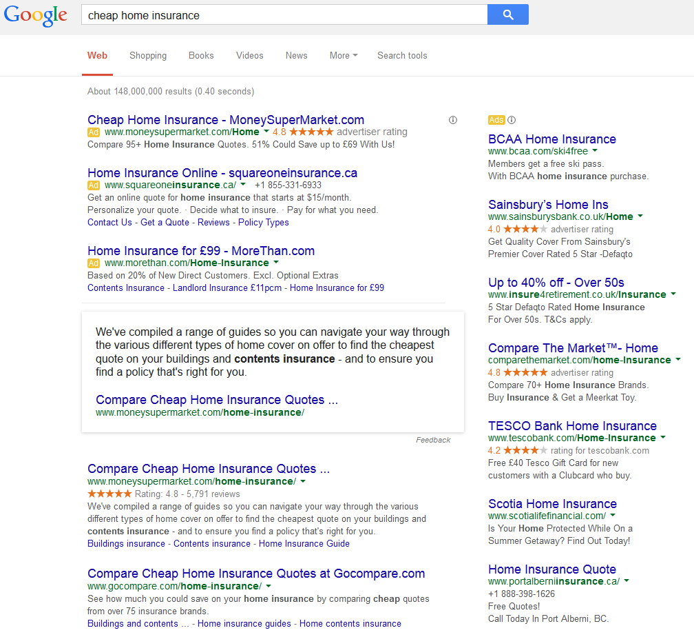 Google Displaying Knowledge Graphs for Highly Competitive – and Spammed – Search Queries