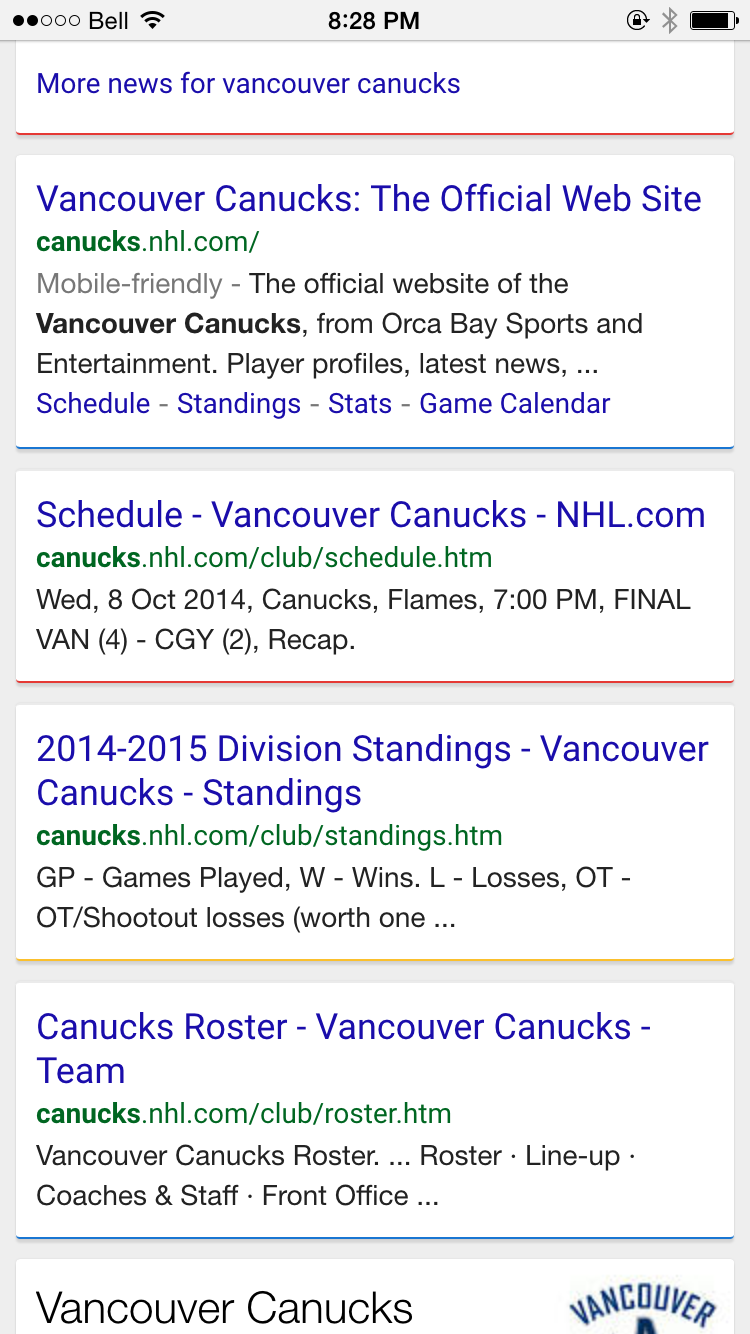 Google Testing New Colored Lines Between Search Results on Mobile