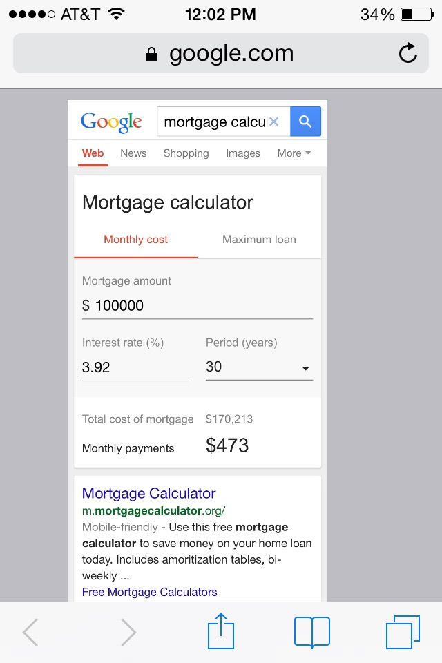 New Google Mortgage Calculator Knowledge Graph, Testing With & Without Ads