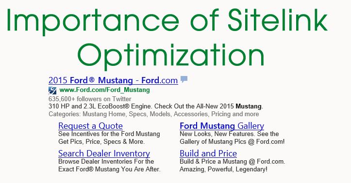 sitelink optimization