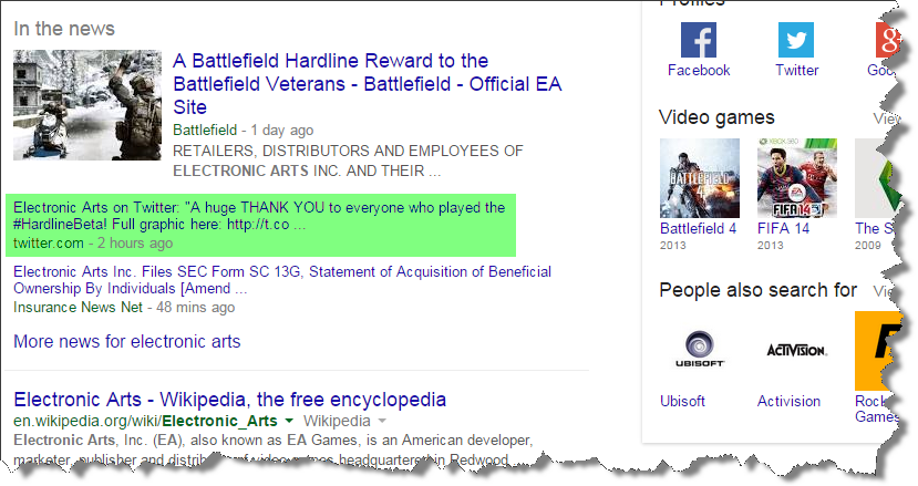 "Google Begins Showing Tweets in Google News & ""In the News"" in Search Results"