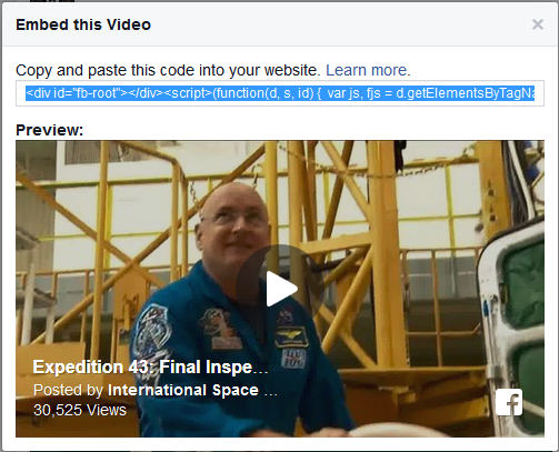 facebook video embed 3
