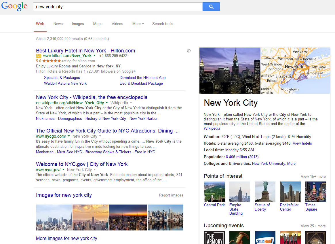 Google Adds Hotel Information to City Knowledge Graphs in Search Results