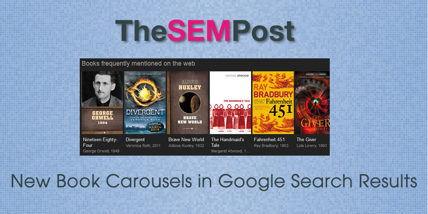 Google Adds New Book Carousel Feature to Search Results