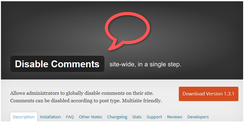 disable comments 1