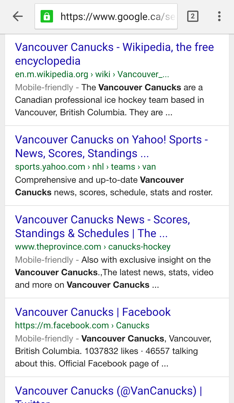 Google Testing New URL Structure in Mobile Search Results