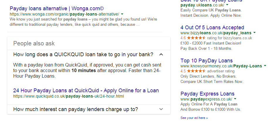 "Google's ""People Also Ask"" Showing for Highly Competitive Keywords"