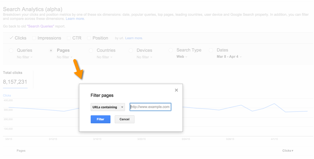 Google Webmaster Tools Adds URL Filtering To Search Analytics Alpha / Beta