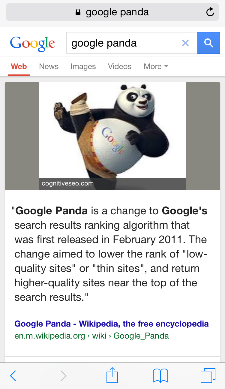 answer box panda