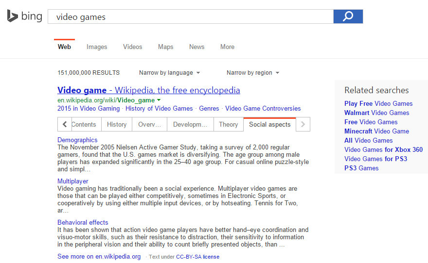 bing wikipedia answer box 4