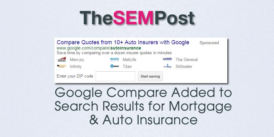 compare auto insurance mortgage