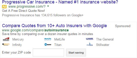 google compare insurance