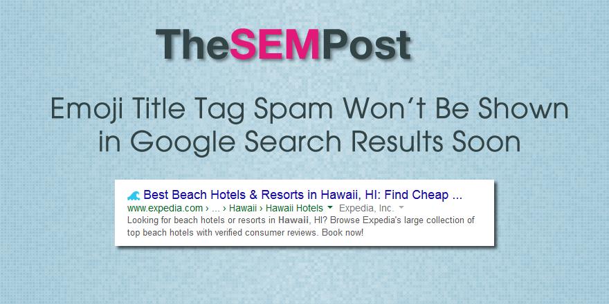 google emoji spam
