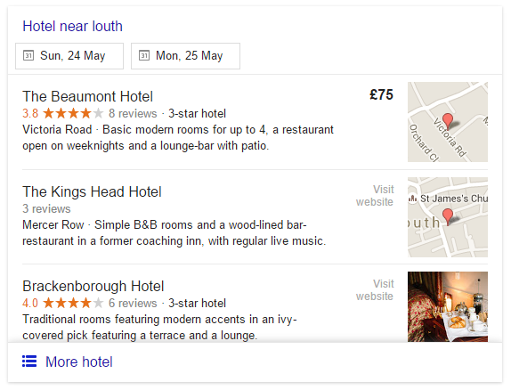 google hotel visit website