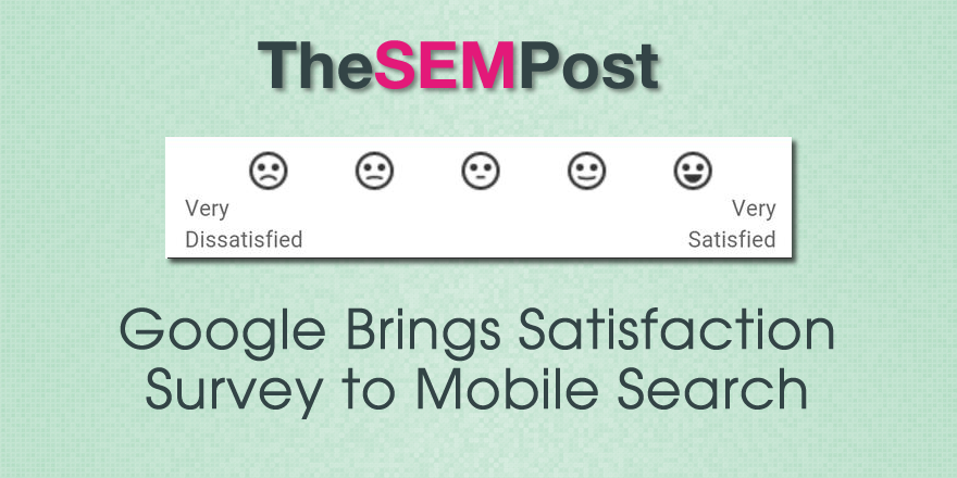 google satisfaction header