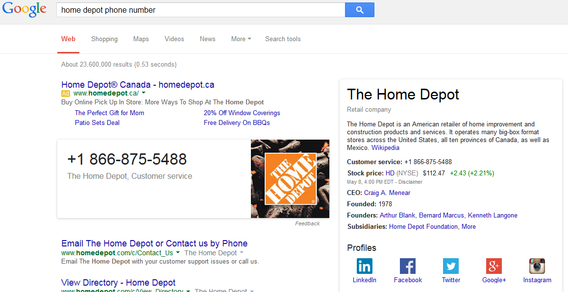Home depot help desk number for Furniture 7 phone number