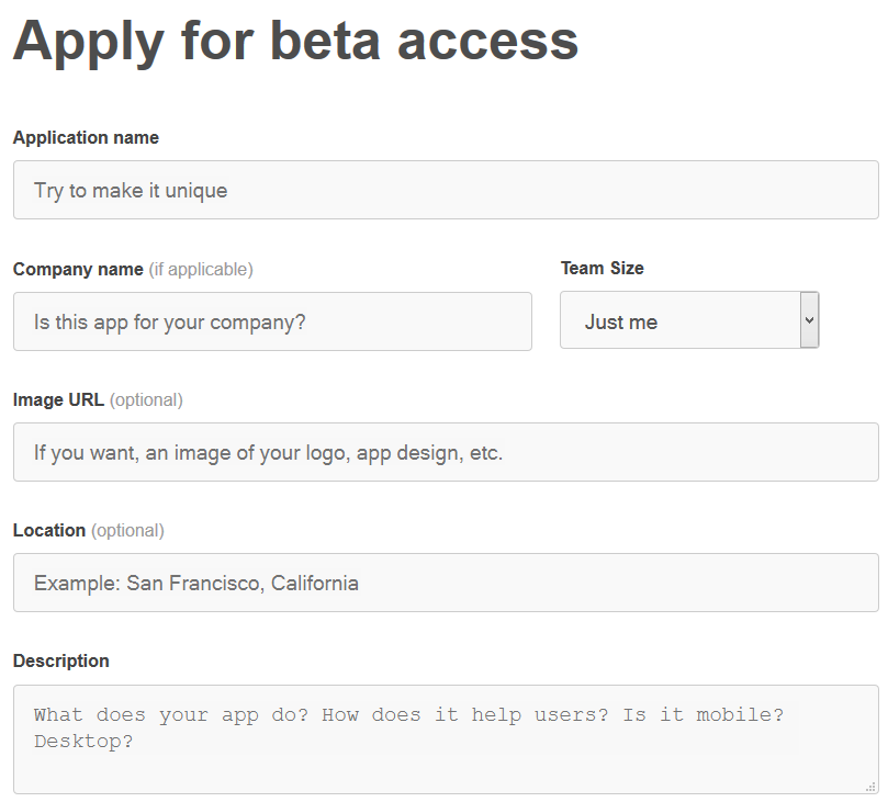 pinterest beta api signup