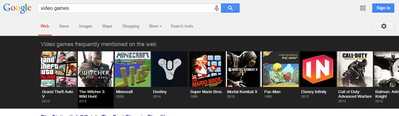 Video Games Latest Vertical to Get Carousel in Google Search Results