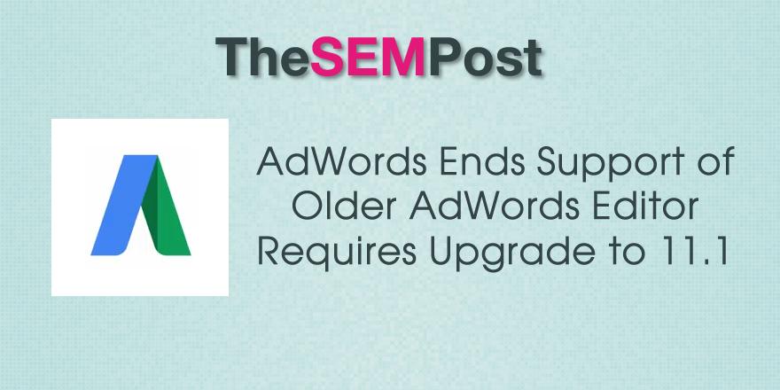 adwords editor upgrade