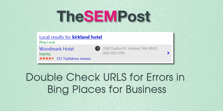 bing places for business urls