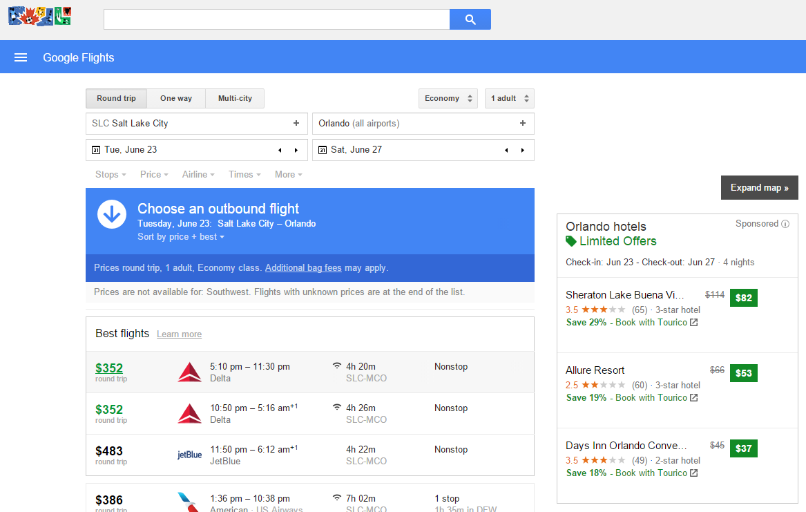 google flight search sidebar 2