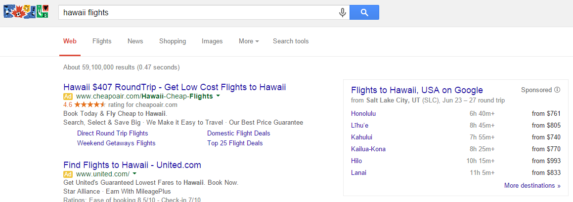 google flight search sidebar 3
