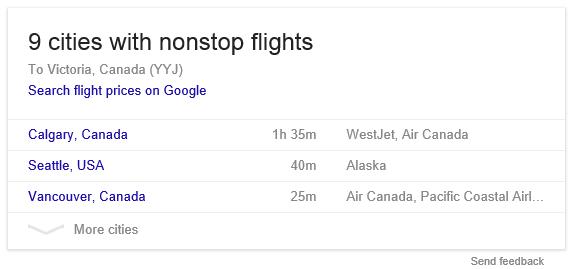 Google Testing Flight Search Box in Sidebar Above AdWords