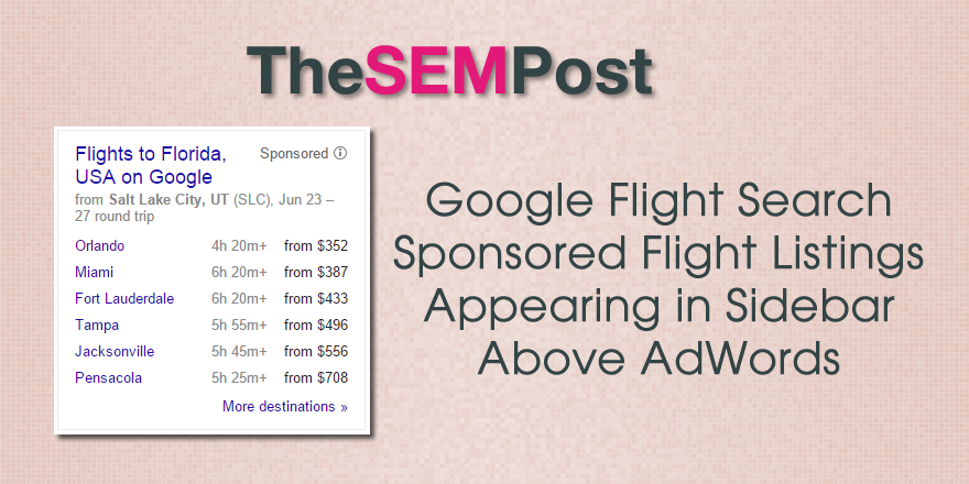 google flight search sidebar header