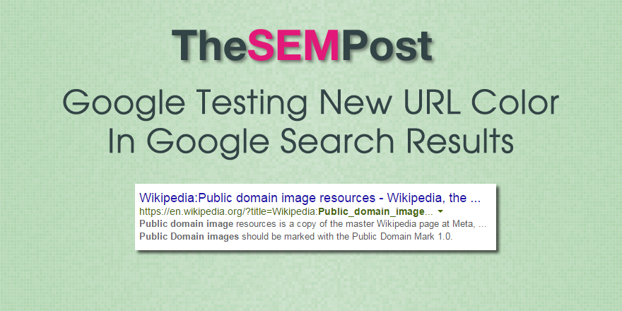 Google Testing New URL Color in Search Results