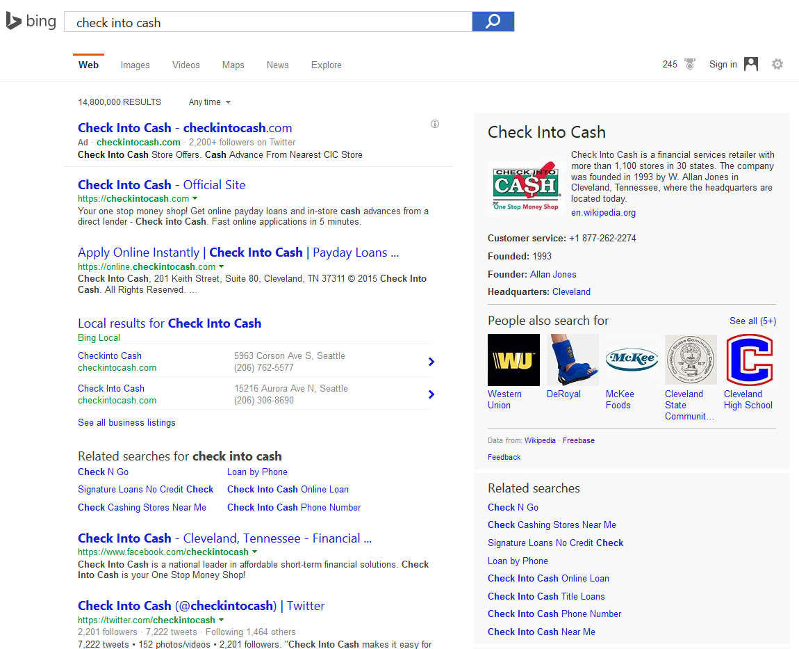bing see results for brands 1c