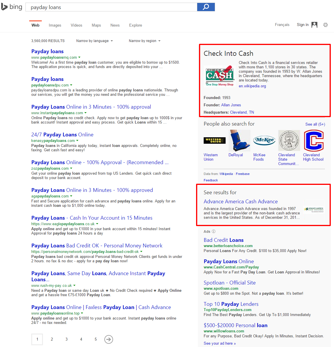 bing see results for brands b1