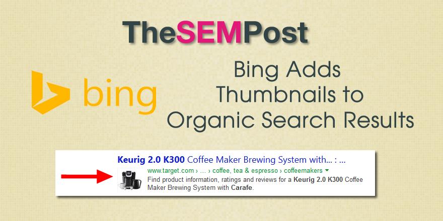 bing thumbnails organic