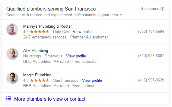 Google AdWords Testing Home Service Ads